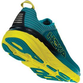 Hoka One One Bondi 6 Hardloopschoenen Heren geel/blauw
